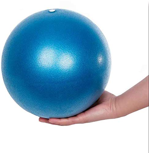 Gymnastikball Yoga Pilates Ball Kleine Übung Ball, Dicker Anti-Burst Gymnastikball inkl Ballpumpe, Rutschfester&Superleichter Soft Pilates Ball, Fitness Ball für Yoga,Heim, Büro,Sitzball,25 cm (Blau)