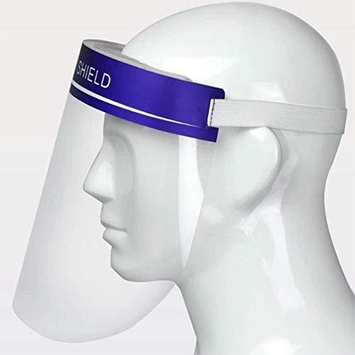 HEHE 8pcs Viseras Protectoras para la Cara, plástico Ligero, Ajustable, Transparente (Azul)