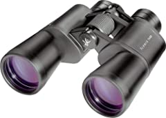 Great all-around binoculars for astronomy as well as scenic daytime viewing High-quality BAK-4 porro prisms and multi-coated binocular objective lenses ensure bright, crisp images Wide 7.1 degree field of view and 14 foot close focus Sturdy metal (no...
