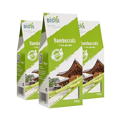Biova Bambussalz, 150g, 3er Pack