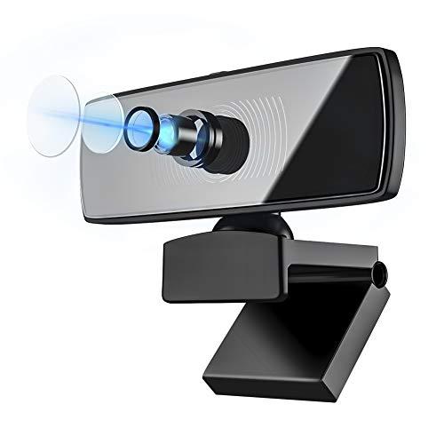 Hedc 1080P Full HD Webcam mit Mikrofon Web Kamera Autofokus mit Datenschutzabdeckung USB Web cam PC Kamera für Videoanrufe Konferenzen, Aufzeichnen für Skype, FaceTime, etc, PC/Mac/ChromeOS/Android