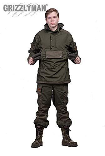 Grizzlyman Gorka-4 Russische Uniform bis -5 C | Jagd, Angeln, Camping, Bushcraft | winddicht/wasserabweisendes Ripstop-Gewebe, khaki, L(chest 38