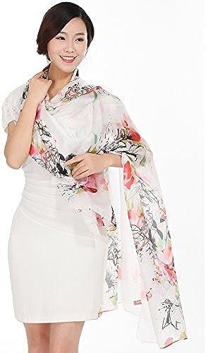 YRXDD Echarpes en Soie pour Femme Silk Long Section Chale Sauvage au Paragraphe Spbague and Autumn Double Usage (110  185cm)