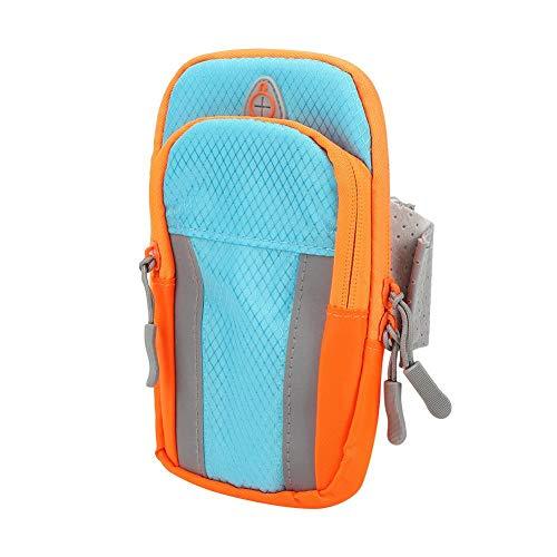 Lecxin Sacs de Sport avec Conception à Deux Poches, Sacs de Grande capacité avec Crochet et Boucle Sacs de Bras en Tissu Oxford léger, Course pour Hommes(Sports Arm Bag)