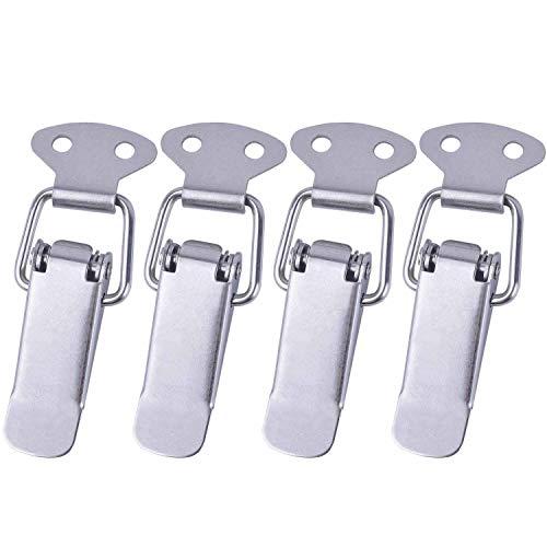 4 Cierres de palanca de acero inoxidable con resorte para caja de...