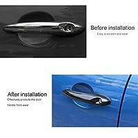 エクステリアドアハンドルカバーSPEEDWOWブラックABSドアハンドルカバートリムオート外エクステリアドアハンドルカバーフィット感のための fit for BMWフィット感のためのミニフィット感のためのクーパーS R50 R53 R56