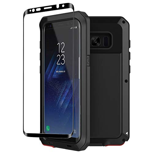 Galaxy S8 Case,Tomplus Armor Tank Aluminum Metal Shockproof Military Heavy Duty Protector Cover Hard Case for Samsung Galaxy S8 (Black)