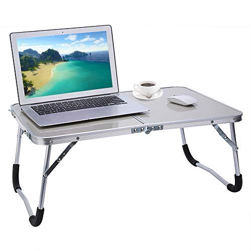 Cocoarm Multifunktionale Faltbare Laptoptisch Tragbare Klappbarer Notebooktisch Picknick Tisch Schlafsaal Notebook Schreibtisch Laptop Bett Tablett (Weiß)