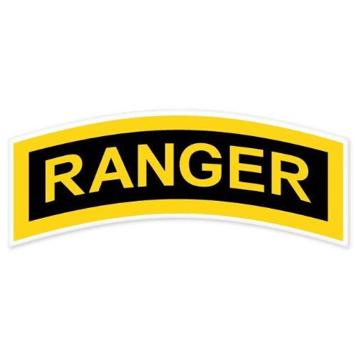 Ride in Style US Army Ranger Tab car Bumper Sticker Window Decal 6' x 2'