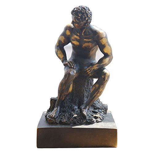 Mnjin Decoracin del hogar David Escultura Decoracin, Estatua de Miguel ngel David Estatua Escritorio de Escritorio Vintage Estatua Decoracin de Resina 12 Pulgadas