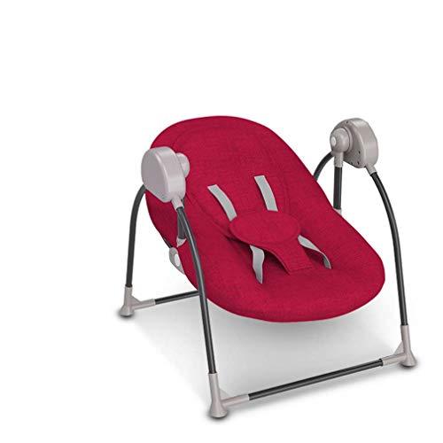 ZWQ kids Pliant bébé Chaise électrique à Bascule, Inclinaison Berceau bébé, Chaise réconfortante Nouveau-né endormi, Le Shaker à Bascule pour Enfants, adapté pour 0-2 bébé,A