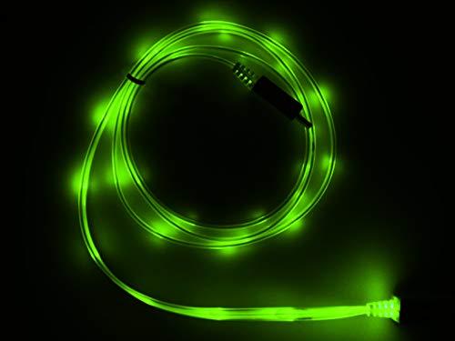 LifeShift USB Ladekabel Datenkabel, 1m, grün beleuchtet, ohne Fließeffekt, kompatibel mit iPhone