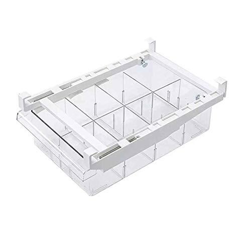 QWV Drawer Organizer Organizer Grid Almacenamiento Cocina Frigorífico Congelador Estante Soporte Space Saver Organizacion (Color : 8 Grid)