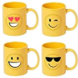Lote de 8 Tazas en cerámica Diseño Emoticonos. Tazas Infantiles para un Desayuno Especial para los niños. Regalos...