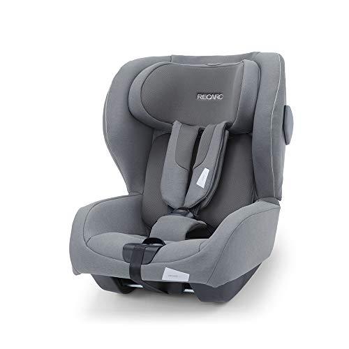 Recaro Kids, siège-auto Kio i-Size, Siège Auto Bébé Isofix réversible (face/dos route) Groupe 0/1 (60-105cm), Installation avec la base Avan/Kio, Aération Optimale, Confort et Sécurité, Silent Grey