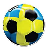 Swedish National Team Sweden Soccer Fan - 8' Vinyl Sticker - For Car Laptop I-Pad - Waterproof Decal