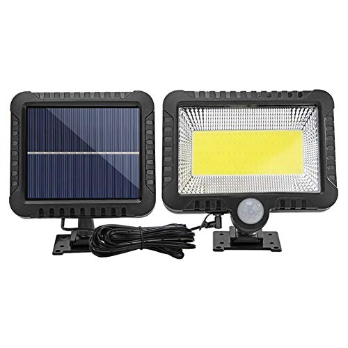 Solar Power Wandlamp Outdoor Motion Sensor Licht 100 LEDs Veiligheid Nachtlampje Afzonderlijke Zonnepaneel Licht voor Patio Yard Deck Garage Oprit Porch Hek