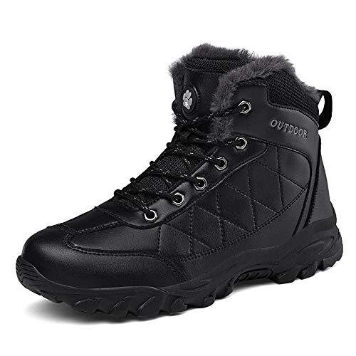 Botas para Hombre Winter Plus Velvet Zapatos Antideslizantes De Algodón De Suela Gruesa Botas De Nieve para Exteriores