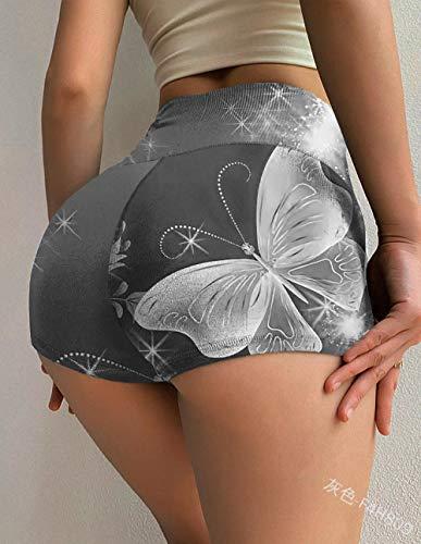bayrick Caliente en Europa y América,Cintura Alta impresión de Yoga Pantalones Cortos Hembra Anti-luz Medias-4_L