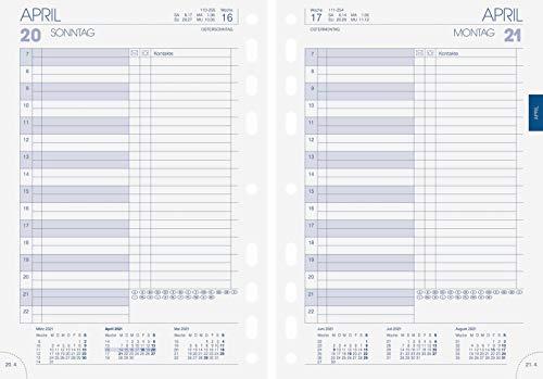 BRUNNEN 1079001001 Tageskalendarium, Zeitplansysteme, 2021, 1 Seite = 1 Tag, Blattgröße 14,8 x 20,8 cm, A5