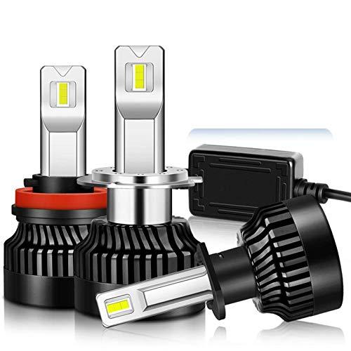 JALAL 100W 25000LM LED Faro H1 H4 H7 LED Canbus H8 H11 9005 HB3 9006 HB4 9012 HIR2 Bombilla de Luces de Coche Turbo Lámpara antiniebla 12V 2PC, H4