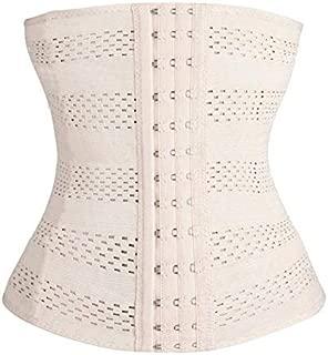 HITSAN INCORPORATION Solid Body Women Underwear Lingerie Corset Shaper Latex Rubber Waist Trainer Cincher Under Bust Shapewear New Color Beige Size 4XL