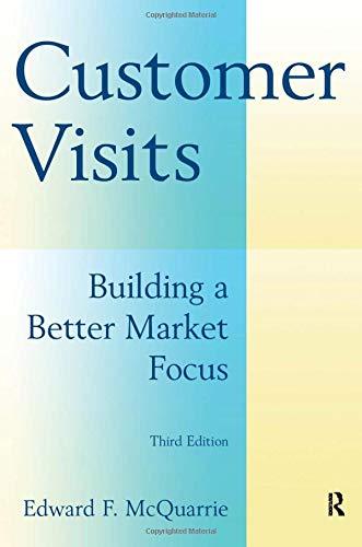 Customer Visits: Building a Better Market Focus: Building a Better Market Focus: Building a Better Market Focus