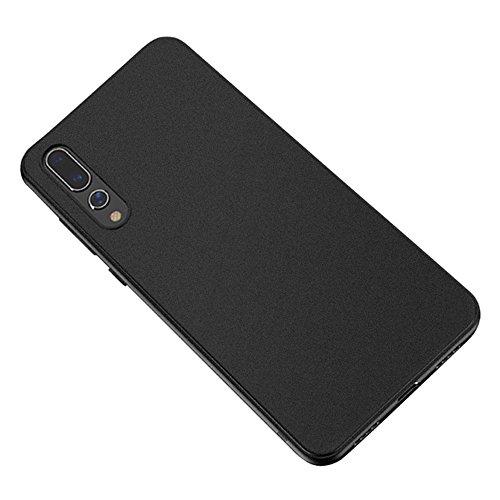 Baanuse Huawei P20 Pro Funda, [Ultra Slim Soft TPU] [Sand Scrub Non-Slip] [Shockproof Armor] Carcasa para Huawei P20 Pro Negro