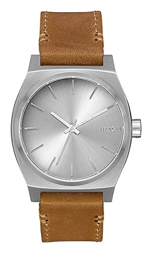 Nixon Herren Analog Quarz Uhr mit Leder Armband A1137-2872-00