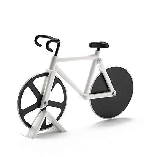 Cortador de pizza para bicicleta, antiadherente, fácil de limpiar y cortar Edelstahl, cortador de pizza, accesorios de cocina para el hogar, al aire libre, Geeignet für Fahrrräder und Pizza Liebhaber