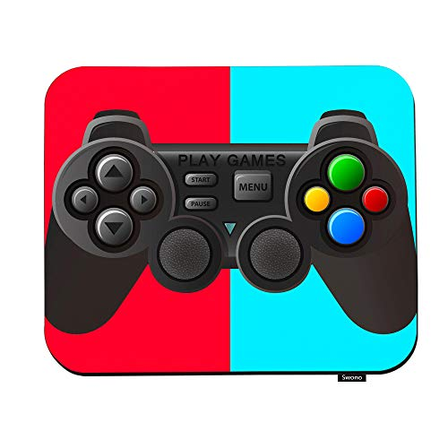 Swono Game Controller Mouse Pads Black Joystick with Different Buttons Mouse Pad for Laptop Funny Non-Slip Gaming Mouse Pad for Office Home Travel Mouse Mat 7.9'X9.5'