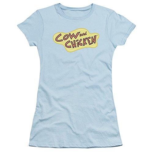 Cow And Chicken Cartoon Network serie Logo Juniors Sheer camiseta Tee
