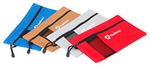 Southwire herramientas y equipo bag4p resistente poliéster con cremallera bolsas de herramientas, pack de 4unidades