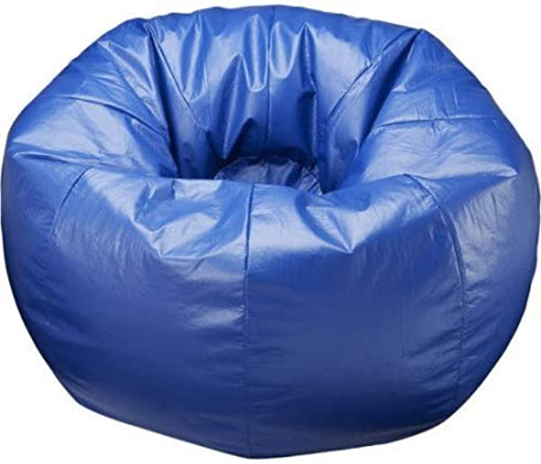 132 Round Extra Large All Around Shiny Bean Bag Blue