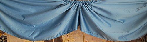 AMS Muschelbogen mit 5 Bögen Querbehang Satin blau,Dekorationsbreite ca. 3,00 lfm