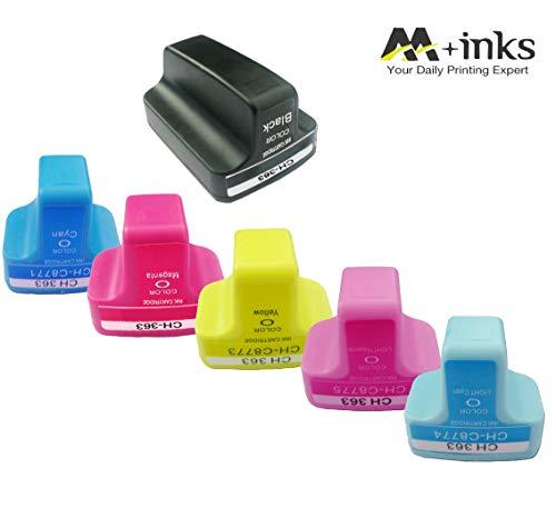 AA+inks 6 confezione da Sostituzione per cartuccia d'inchiostro HP 363 compatibile per HP Photosmart 3110 3210 3210v 3210xi 3213 3310 3310xi 3313 8230 8238 8250 C5180 C6180 C6270 Stampante