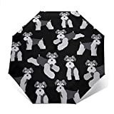 NA Parapluie de voyage avec motif de chien Schnauzer mignon, coupe-vent et léger, compact et portable, idéal pour les enfants, les femmes, les hommes et les enfants