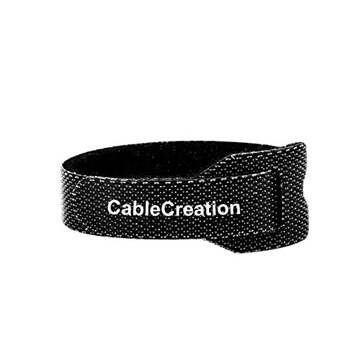 Cable Ties 6 inch, CableCreation 50PCS Reusable Fastening Organizer Cord/Tie Wrap, Nylon Adjustable Cable Management, 6 × 0.35 inch/Black