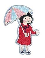 バッグアクセサリー女友達のプレゼントブローチ ピンバッジ ファッション ピンバッチ かわいい アーバシリーズ刺繍ブローチ(傘 A)