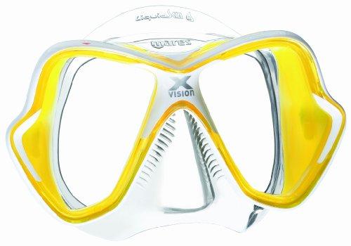 Masque de plongée Mares X-Vision LiquidSkin, weiß/gelb/klar