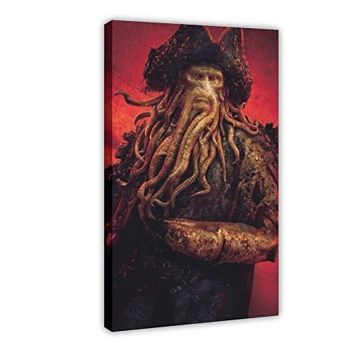 Póster de película Piratas del Caribe, 5 lienzos, decoración de dormitorio, paisaje, oficina, decoración de habitación, regalo, 60 x 90 cm, estilo de marco 1