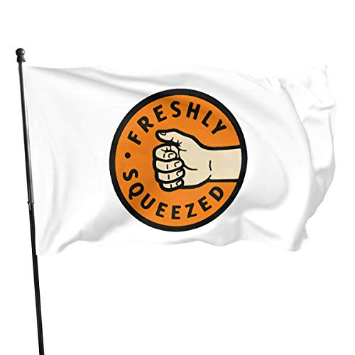 Yuanmeiju Gartenfahne Squeezed Orange Cassidy Flag Vivid Color and Uv Fade Resistant with Brass Grommets 3 X 5 Feet 3x5 Inch'' Flag