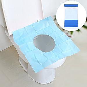 Auflage Einweg Spülbar, Hygienische WC -Papierauflagen Universalgröße-Toilette Auflage für Reisen Öffentliche Bäder Mutterschaft Erwachsene Kinder 10er Pack