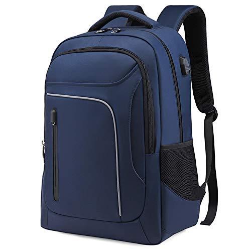 Mochila cómoda y Duradera Impermeable Mochila Impermeable Anti-Ladrón Durable Laptop Bag Hombres Carga USB para Viajes M