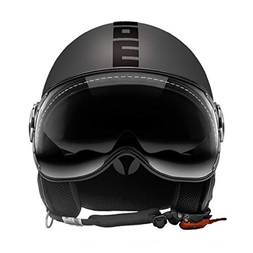 10010030293 CASCO MOMO FIGHTER EVO TITANIO FROST DECALC NERO S