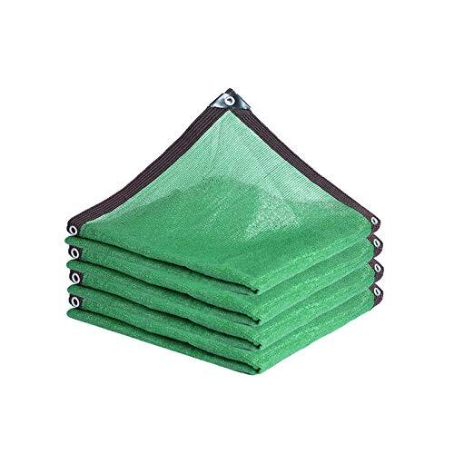Sombra Solar Malla,Resistente al UV del 90%,Tela de Sombra Rectángulo/Cuadrado Verde,para Vallas,Techo,Patio,Pérgola Shade Mesh,12 Pines Sombrilla (9 * 10m(30 * 33ft))