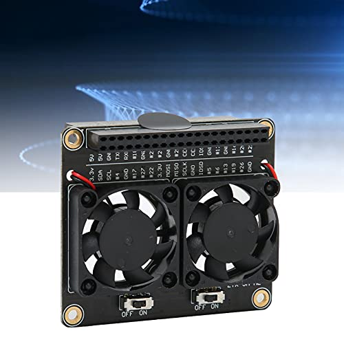 Ventilador de refrigeración de CPU Dual, definiciones de Pines Lear Interruptores Independientes de Ventilador de refrigeración de CPU Expansión GPIO para PC de Escritorio