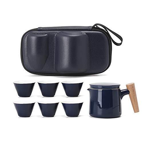 ZJSXIA Juego de té Vajilla Negra Tetera De Cerámica Teteras Tazas De Té Porcelana China China Fu Conjunto De Té Tabho Embarque Juego