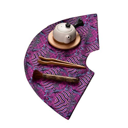 Wukong Paradise Nappe à thé Tapis à thé Broderie sous-Verres à thé Chemin de Table Accessoires pour thé-A02