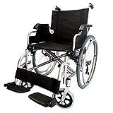 POLIRONESHOP OPERA - Silla de ruedas con ruedas extraíbles, plegable, autopropulsado, aluminio (negro)